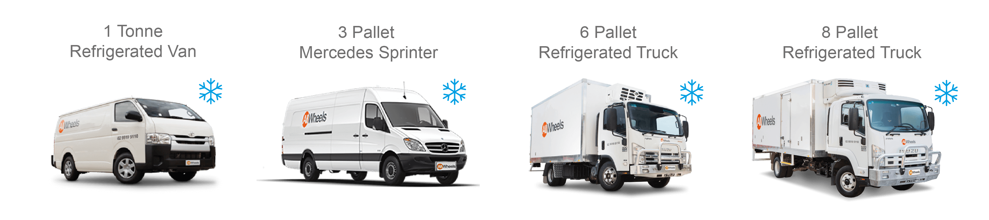 Refrigerated Truck and Van Rental Sydney Fleet